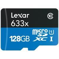Produktbild Lexar LSDMI128BBEU633R Micro SDXC Class 10 UHS-I U1 microSDXC Speicherkarte, 128 GB, Class 10 / UHS-I, USB