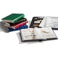 Produktbild Briefmarken Einsteckbuch BASIC, 64 schwarze Seiten, Einband unwattiert in Blau, DIN A4