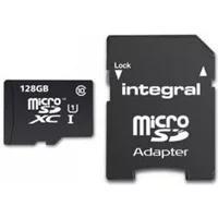 Produktbild Integral INMSDX128G10-80/25U1 Micro SDXC Class 10 UHS-I U1 microSDXC Speicherkarte, 128 GB, Class 10 / UHS-I