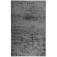 Produktbild Teppich Velvet Grid - Kunstfaser - Taupe / Hellgrau - 80 x 150 cm