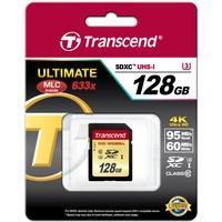 Produktbild Transcend SDXC Karte 128GB Speicherkarte Ultimate 633x UHS-I U3 4K Class 10