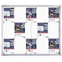 Produktbild Franken Schiebetürenschaukasten »PRO« Weiß, 117.5x99x4.6 cm