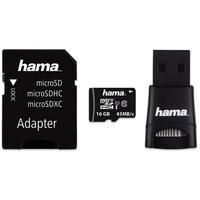 Produktbild hama microSDHC Speicherkarte 16 GB UHS-I Class 10 mit USB-Adapter