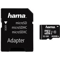 Produktbild Hama 124151 Micro SDHC Class 10 UHS-I U1 microSDHC Speicherkarte, 32 GB, Class 10 / UHS-I