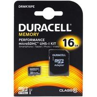 Produktbild Duracell Memory Micro-SD-Card microSDHC UHS-I KIT 16GB mit Adapter auf SDHC