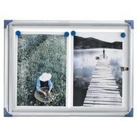 Produktbild nobo Schaukasten, extraflach, Metall-Rückwand, 2 x DIN A4