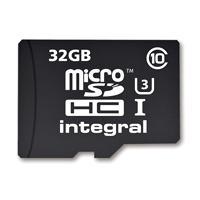 Produktbild Integral INMSDH32G10-90/45U1 Micro SDHC Class 10 UHS-I U3 microSDHC Speicherkarte, 32 GB, Class 10 / UHS-III