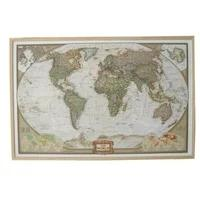 Produktbild National Geographic The World Weltkarte auf Kork-Pinnwand (historischer antiker Stil)