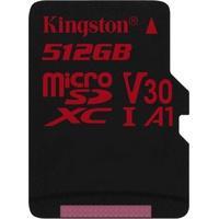 Produktbild 512Gb Kingston Canvas React microSDXC Class 10 Speicherkarte Lesen: 100MB/s, Schreiben: 80MB/s