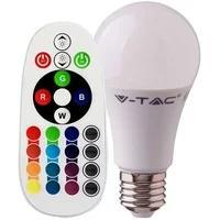 Produktbild RGB LED 9 Watt Leuchtmittel E27 Farbwechsel Birne 806 Lumen Lampe Fernbedienung DIMMER V-Tac 2766