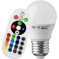 Produktbild RGB LED 3,5 Watt Leuchtmittel E27 Kugel 320 Lumen Farbwechsel Lampe Fernbedienung DIMMER V-Tac 2772