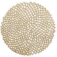 Produktbild Zeller Cut out Platzset, Ø 38 cm, Schützt die Tische vor unschönen Rändern und Verschmutzungen, Material: PVC, gold
