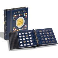 Produktbild Münzalbum VISTA, für 2-Euro-Münzen, inkl. 4 VISTA, Münzblättern, inkl. Schutzkassette,blau