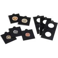 Produktbild Münzrähmchen MATRIX, schwarz,35 mm, selbstklebend, 25er-Pack