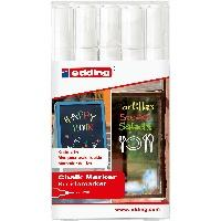 Produktbild EDDING 4095/5S - Kreidemarker Set 5 Stück, 2 - 3 mm, weiß