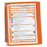 Produktbild Durable Wandhalter mit 5 Tafeln orange DIN A4