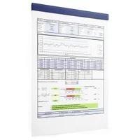 Produktbild DURABLE Durafix® Rail Magnetleiste, 210 mm, Selbstklebende Klemmleiste für Informationen und Aushänge, 1 Beutel = 5 Stück, dunkelblau