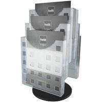 Produktbild Tisch-Prospektständer »the turn grid« schwarz, helit, 24x46.5x3.5 cm