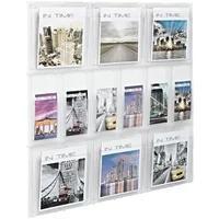 Produktbild Wand-Prospekthalter »the placativ« 6x A4 + 6x DIN Lang transparent, helit, 85.2x97.8x3.5 cm