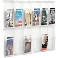 Produktbild Wand-Prospekthalter »the placativ« 12 x DIN Lang transparent, helit, 85.2x65.2x3.5 cm