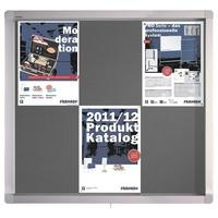 Produktbild FRANKEN Schaukasten für den Innen- und Außenbereich ECO SK6PTE12 grau