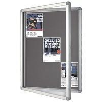 Produktbild FRANKEN Schaukasten für den Innen- und Außenbereich ECO SK9PTE12 grau