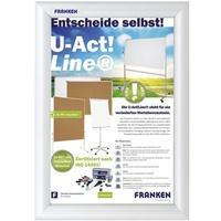 Produktbild Franken Klapprahmen Antireflex Folie silber 241x328x12mm Alu