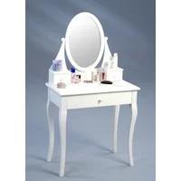 Produktbild Schminktisch Bella Schminkkommode Frisiertisch Weiß Landhausstil Spiegel