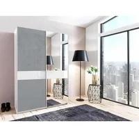 Produktbild Wimex Schwebetürenschrank »Weimar«, weiß, betonfarben/Weißglas
