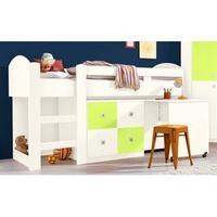 Produktbild Wimex Hochbett »Sunny«, weiß/grün