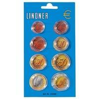 Produktbild 50 Lindner 2251E Münzkapseldisplay 8 Münzkapseln Euro Kursmünzen Satz KMS 1 2 5 10 20 50 C 1 2 Euro