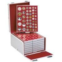Produktbild Lindner 2358B Boxen-Koffer Münzboxenkoffer Koffer Aluminium befüllt mit 8 Münzboxen Freie Auswahl