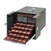 Produktbild Lindner 2310B Boxen-Koffer Nera Schwarzer Münzboxkoffer Koffer befüllt mit 10 Münzboxen Freie Wahl