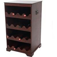 Produktbild Weinregal Rhone T252, Flaschenregal Regal Holzregal, für 16 Flaschen Kolonialstil 66x38x34 cm