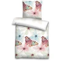 Produktbild Castell Bettwäsche Baumwolle Seersucker Schmetterling, 135 x 200 cm