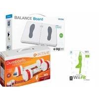 Produktbild Wii - BigBen Balance Board mit EA Active Hanteln und dem Spiel Wii Fit