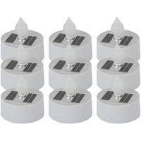 Produktbild 9er Set LED Solar Lampen Kerzen Feuer Effekt Außen Dekoration Terrassen Garten Teelichter