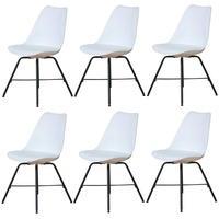 Produktbild 6x Esszimmerstuhl Niko Küchenstuhl Esszimmer Küche Stuhl Set Essstuhl weiß