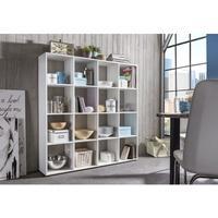 Produktbild Wilmes Raumteiler mit 16 Fächern, Weiß Dekor Melamin