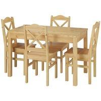 Produktbild Rustikale Tischgruppe Esstisch und 4 Stühle Kiefer Massivholz 90.70-51 B-Set 20