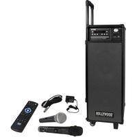 Produktbild Mobile Beschallungs Anlage Funk Mikrofon Netzteil DVD CD USB SD Bluetooth Fernbedienung