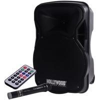 Produktbild 500 Watt Musik Beschallungs Party Anlage Event Bluetooth SD USB Funkmikrofon Hollywood MB-12