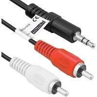 Produktbild MUMBI 3,5mm Klinke Stecker auf 2x Stereo-Cinch Chinch / 3m Kabel