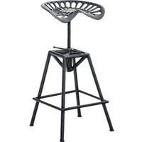 Produktbild CLP Metall-Barhocker SAMSON im Industrial-Look I Robuster Barhocker mit Sattelsitz und verstellbarer Sitzhöhe I In verschiedenen Farben erhältlich