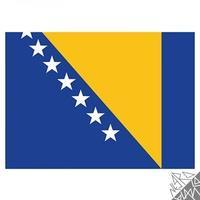 Produktbild Flagge Bosnien-Herzegowina 90x150cm mit Befestigungsösen