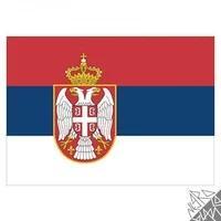 Produktbild Flagge Serbien 90x150cm mit Befestigungsösen