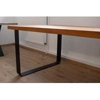 Produktbild Tischgestell Stahl schwarz matt TGF 100x10 sm 900 rund gebogen Tischkufe, 2 Stk