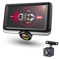"""Produktbild 360 Grad Panorama DVR DashCam mit 4,5"""" IPS Touchscreen Display Auto Kamera Parküberwachung Diebstahl"""