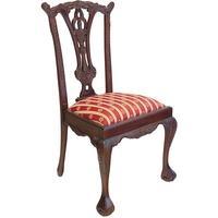Produktbild Stuhl Lehnstuhl Sitzmöbel im antiken Stil Massivholz mit Polsterung (2608)