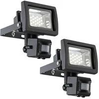 Produktbild 2er Set LED 10 Watt Wand Leuchten Strahler Beleuchtung Bewegungsmelder Außen Lampen